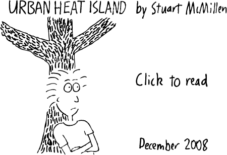Green Roofs and the Urban Heat Island cartoon