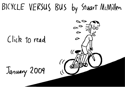 Brisbane Bicyle versus bus cartoon
