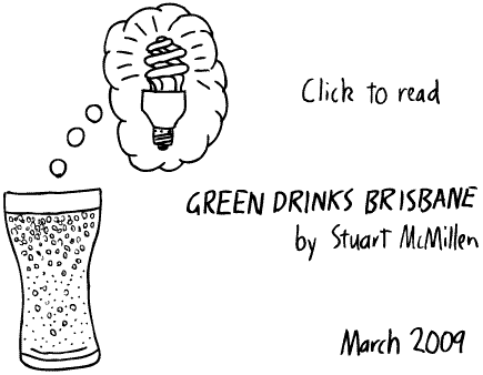 Green Drinks Brisbane cartoon