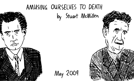 Amusing Ourselves to Death cartoon